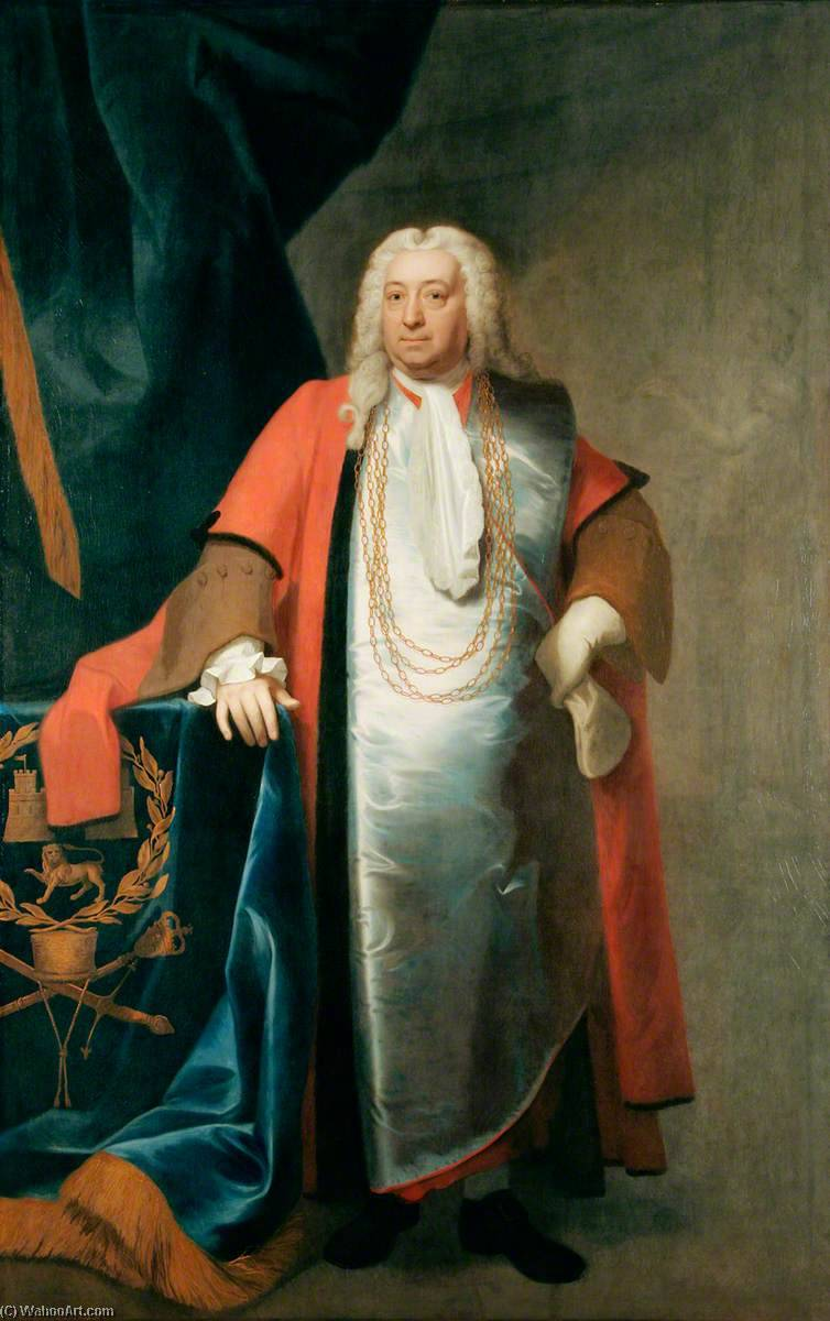 Simeon Waller, Mayor of Norwich (1745), 1746 by John Theodore Heins Senior | Art Reproductions John Theodore Heins Senior | WahooArt.com