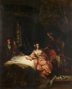 Thomas Robson - Joseph and Potiphar's Wife (copy after the studio of Rembrandt van Rijn)