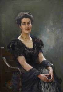 George Hall Neale - Portrait of a Doctor's Wife