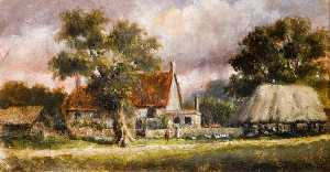 Charles Langton Lockton - Village Green, South East Corner