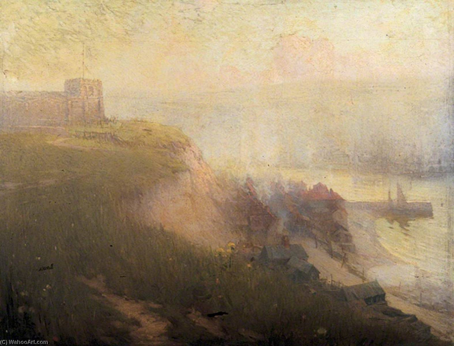 Old Whitby, North Yorkshire, Oil On Canvas by Samuel Henry William Llewellyn