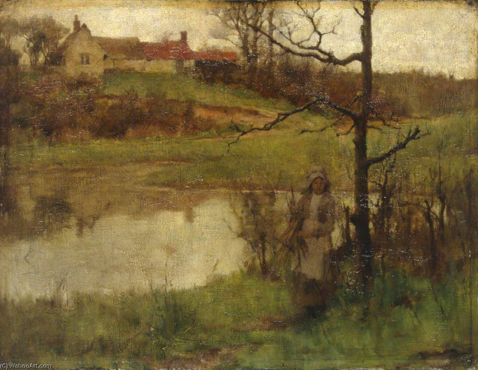Landscape, Oil On Canvas by Samuel Henry William Llewellyn