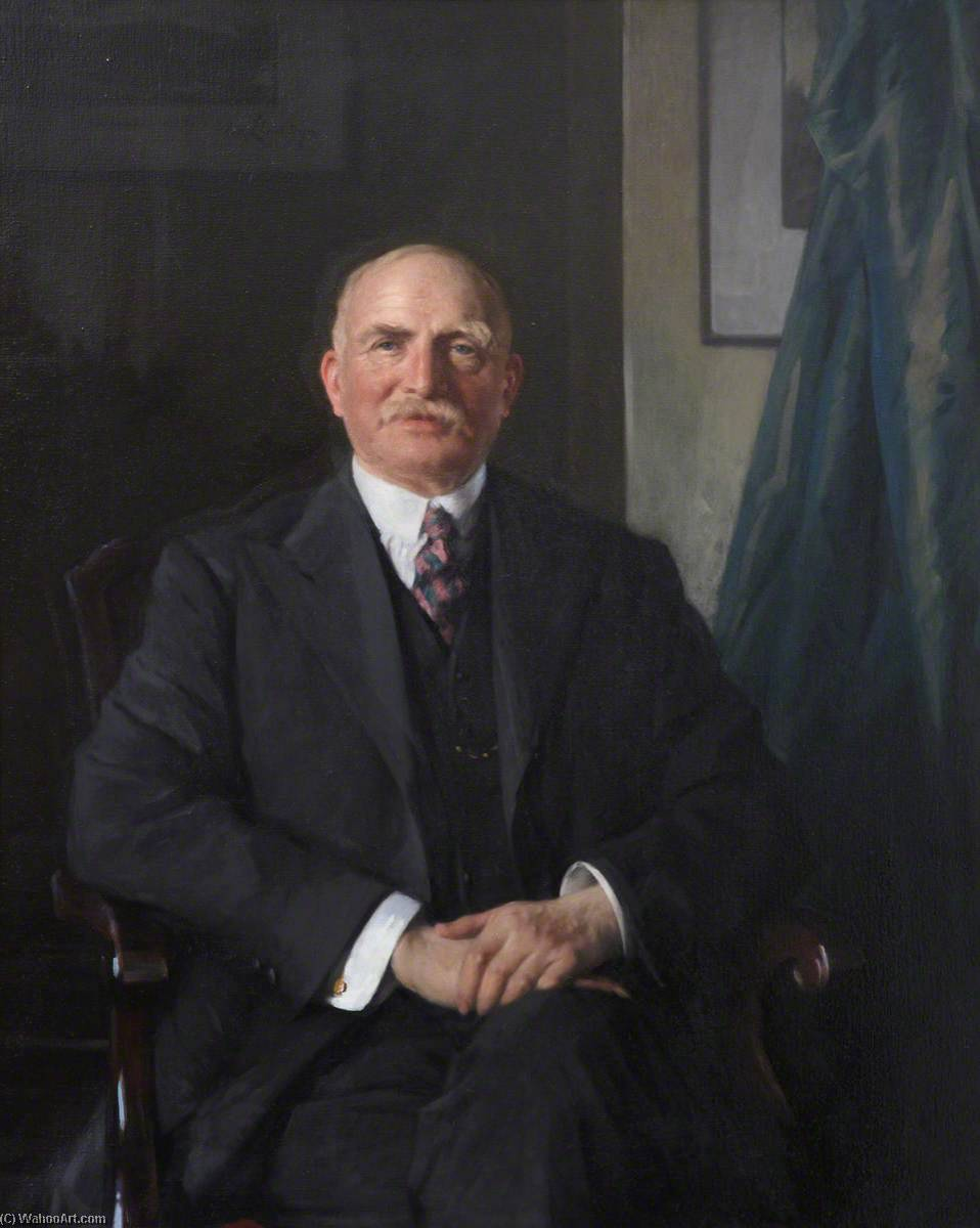 Sir Alexander Grant (1864–1937), 1935 by Samuel Henry William Llewellyn | Painting Copy | WahooArt.com