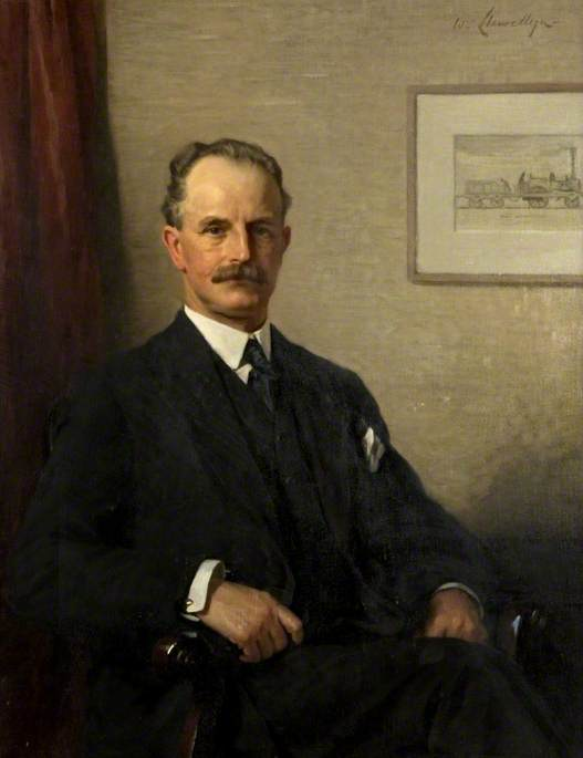 Sir Hugh Reid (1860–1935), Oil On Canvas by Samuel Henry William Llewellyn