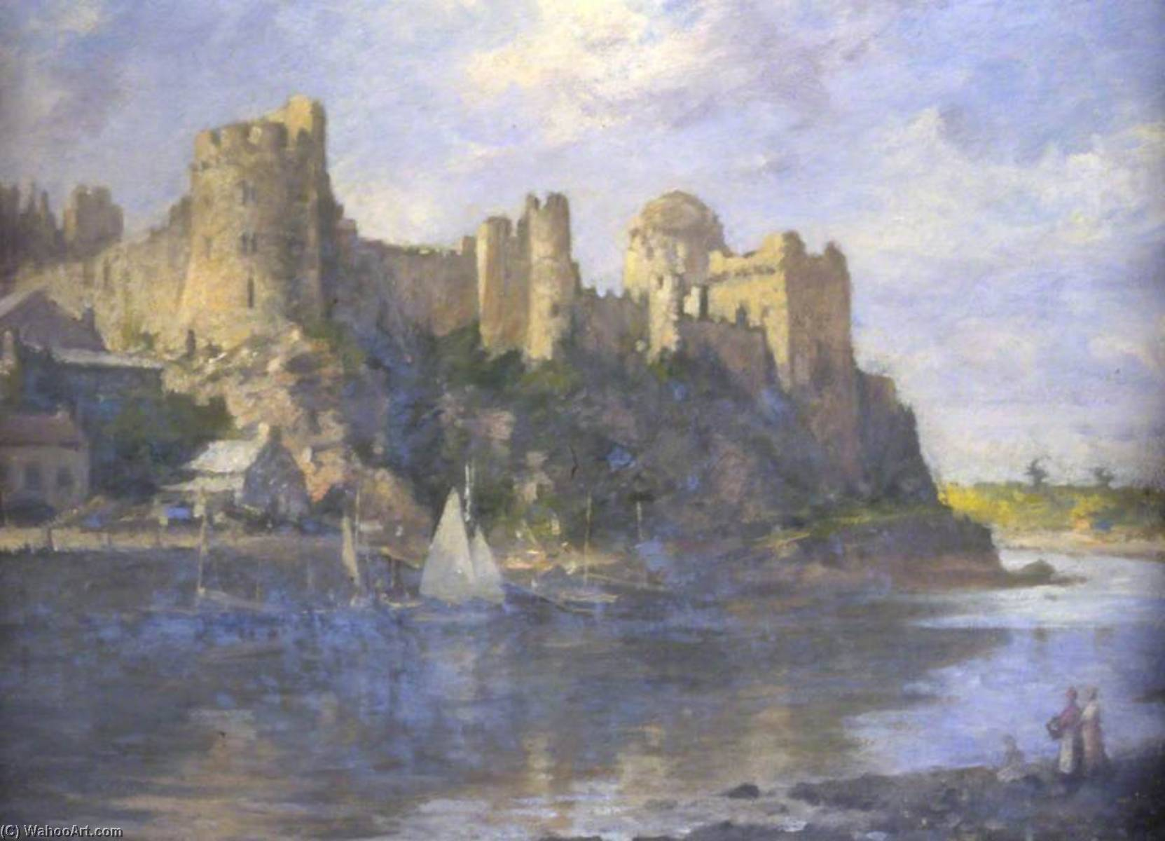 Pembroke Castle, Oil On Canvas by Samuel Henry William Llewellyn