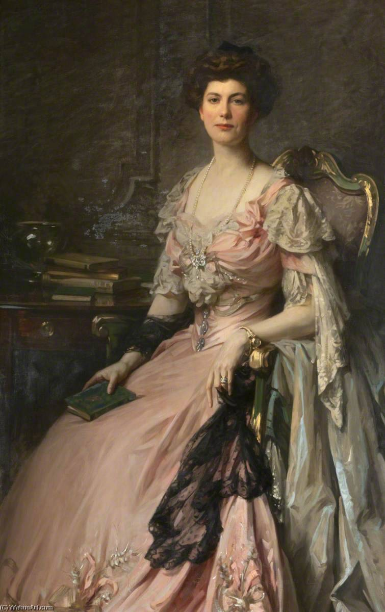 Florence Piercy, Mrs Goddard (d.c.1956) by Samuel Henry William Llewellyn | Famous Paintings Reproductions | WahooArt.com