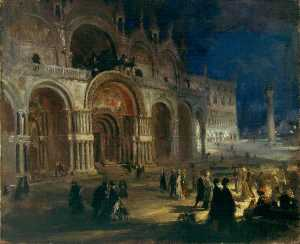 Charles Hodge Mackie - St Mark's by Moonlight, Venice