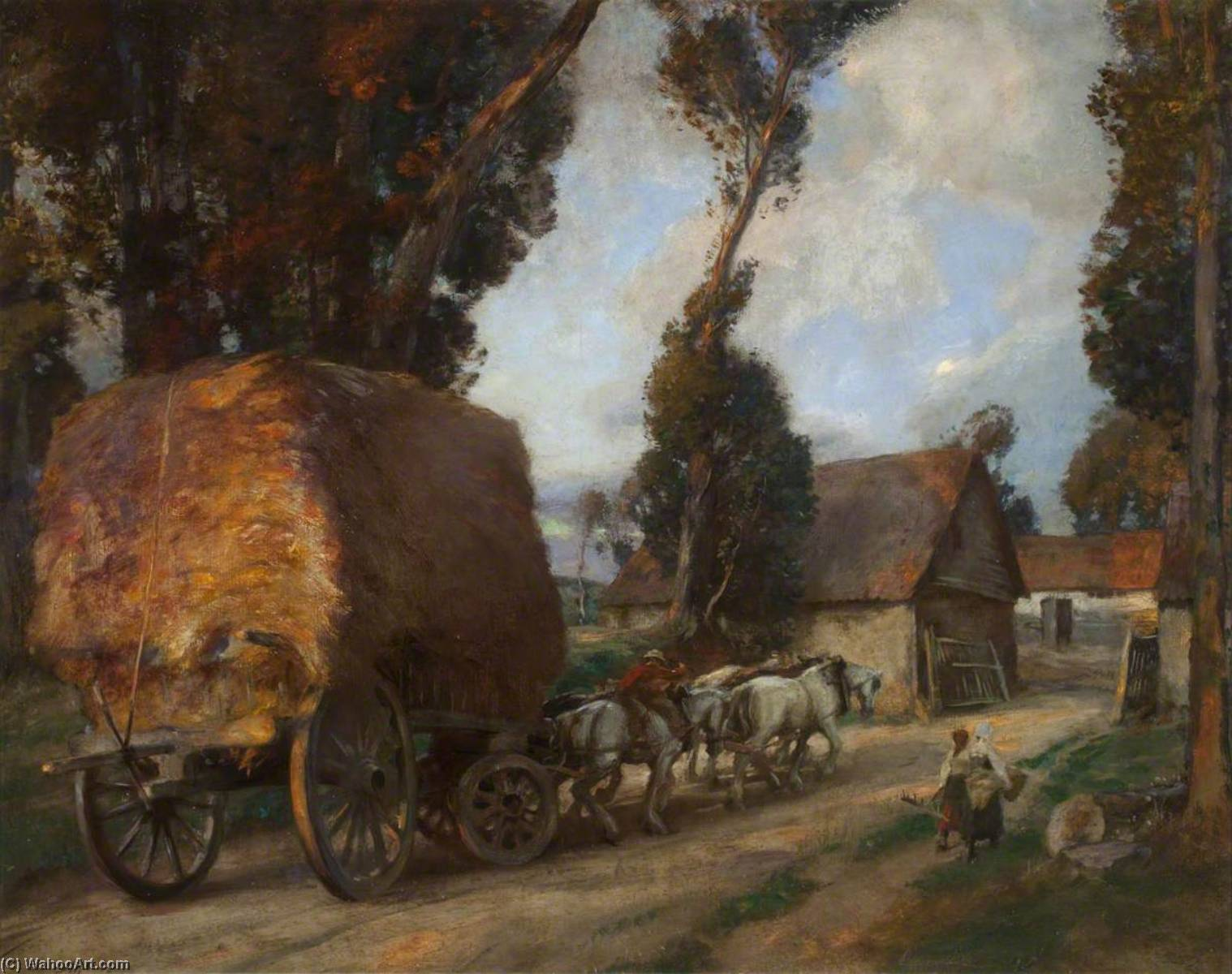 The Hay Cart, Oil On Canvas by Charles Hodge Mackie