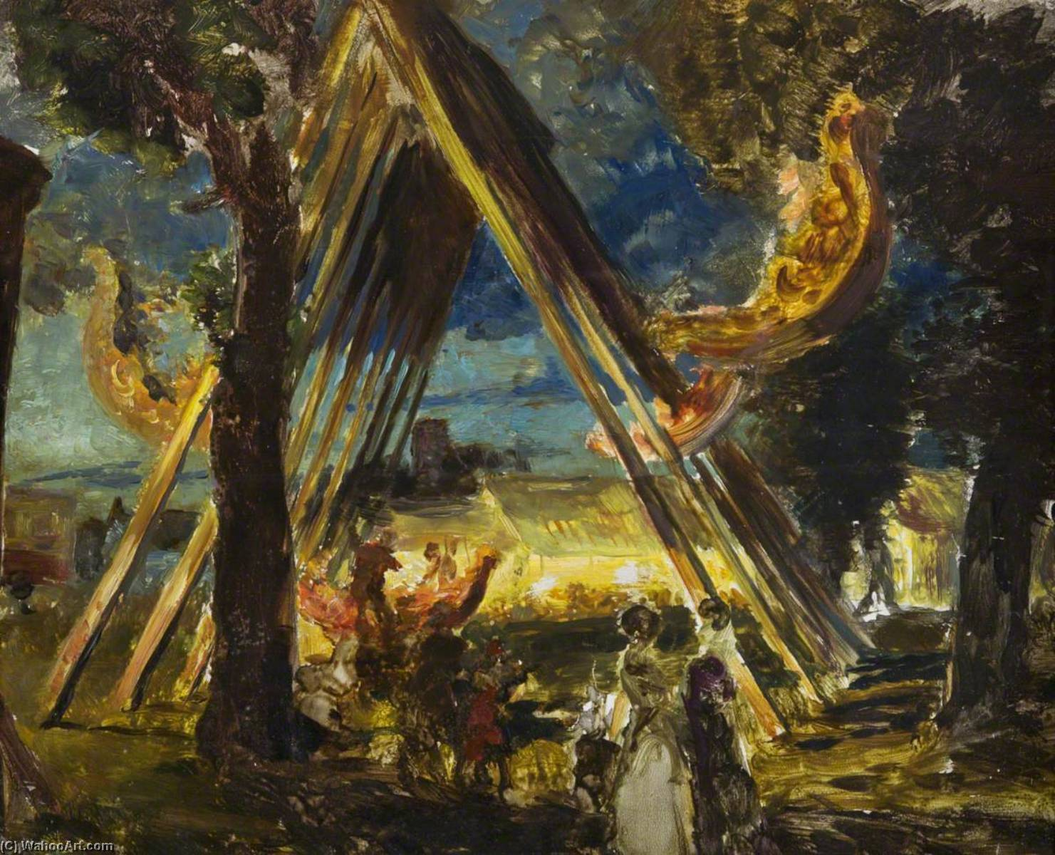 A Norfolk Fair, Oil On Panel by Charles Hodge Mackie