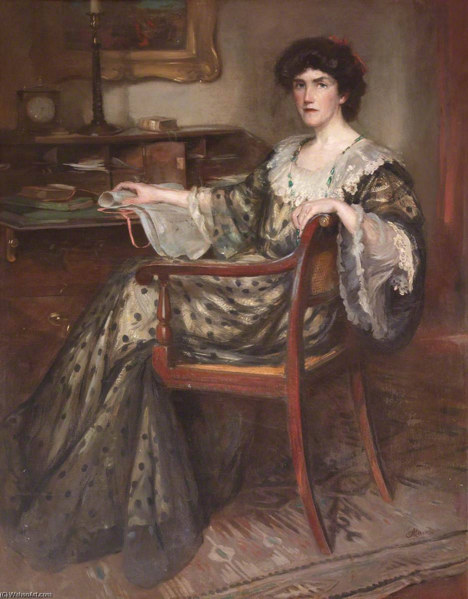 Ella Carmichael Watson (c.1871–1928), Oil On Canvas by Charles Hodge Mackie