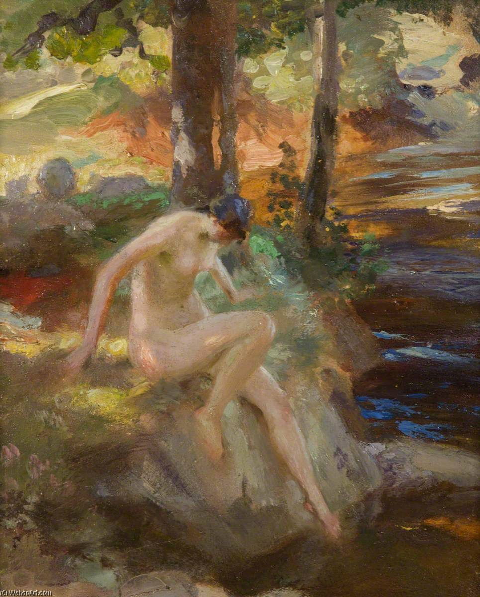 Order Museum Quality Reproductions : The Bather (study) by Charles Hodge Mackie | WahooArt.com