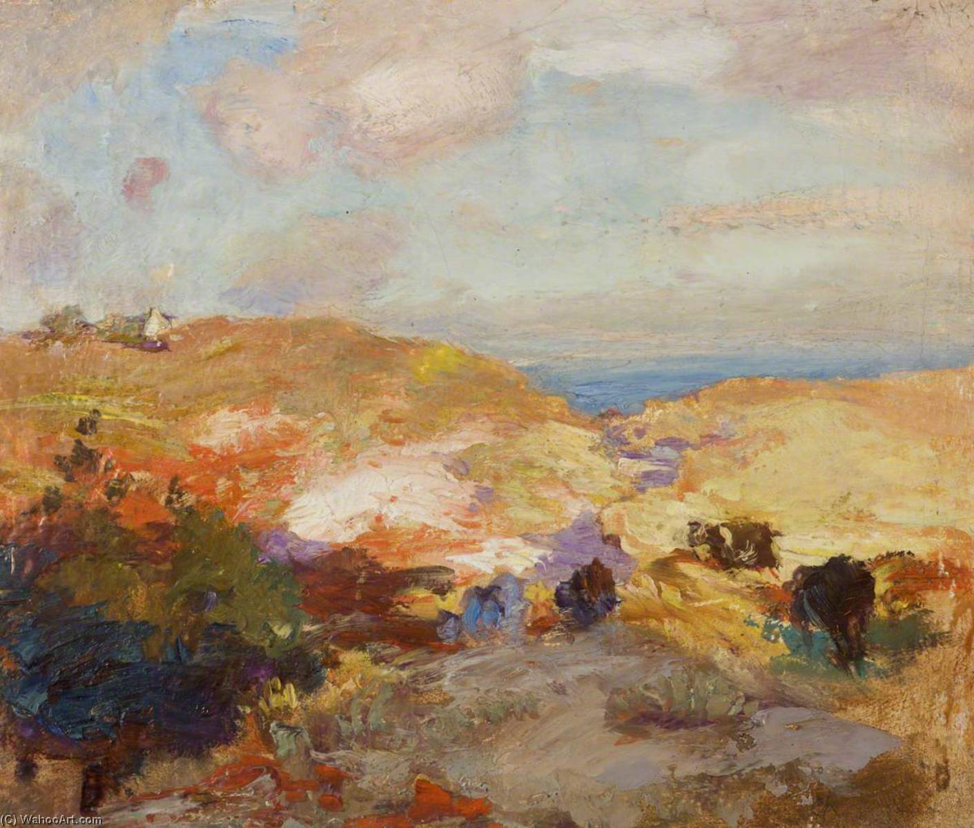 Landscape, Oil On Panel by Charles Hodge Mackie