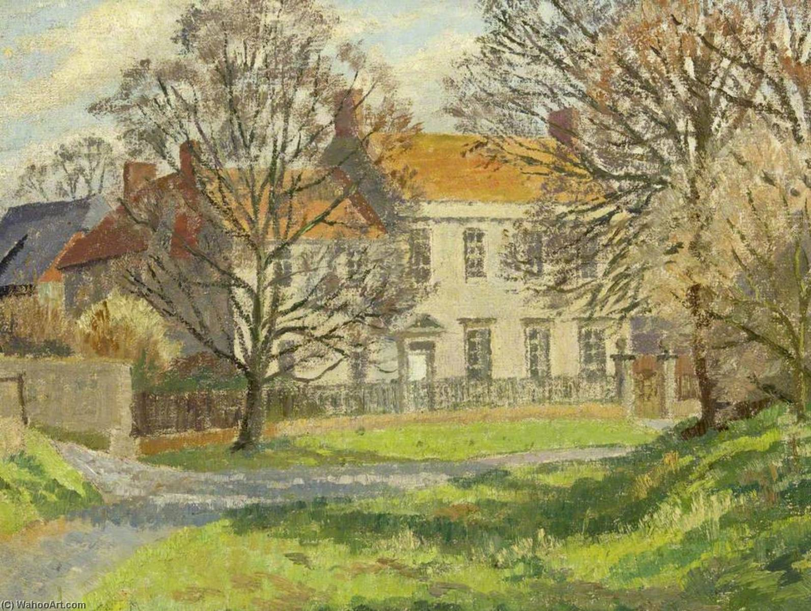 Order Paintings Reproductions | A Wiltshire Village by Donald Ewart Milner | WahooArt.com
