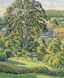 Donald Ewart Milner - A Garden at Uley, Gloucestershire