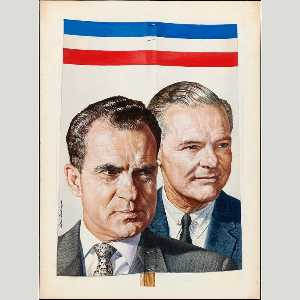 Boris Chaliapin - Richard Nixon and Henry Cabot Lodge, Jr