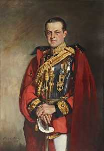Oswald Hornby Joseph Birley - Huttleston Rogers Broughton (1896–1966), 1st Lord Fairhaven, in the Ceremonial Uniform of the 1st Life Guards