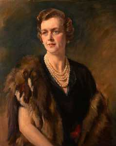 Oswald Hornby Joseph Birley - Cynthia Mary Burns (d.1977), Lady Carew Pole