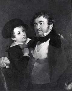 Emanuel Gottlieb Leutze - Byrd Charles Willis, Col, and his Son Achille Murat Willis, (painting)