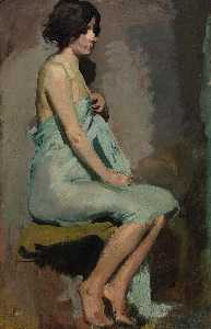 Alice Pike Barney - Study of a Seated Woman