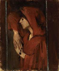Alice Pike Barney - Woman with Red Hood