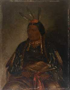 Order Art Reproductions | Che tan ce ta (Yellow Hawk), 1887 by Antonion Zeno Shindler | WahooArt.com