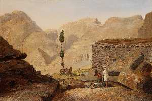 Miner Kilbourne Kellogg - The Top of Mount Sinai with the Chapel of Elijah