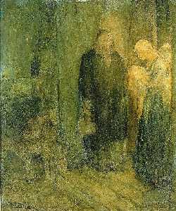 Henry Ossawa Tanner - Departure into Egypt (At the Inn)