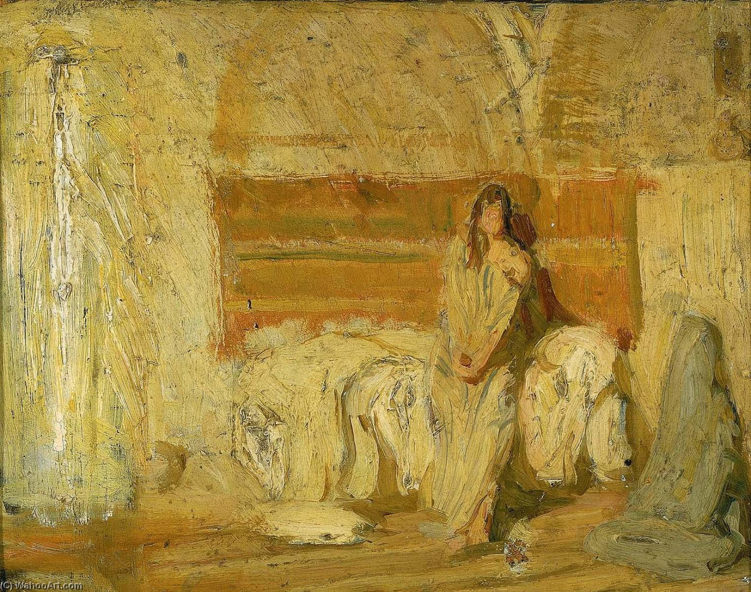 Order Famous Paintings Reproductions : Study for the Annunciation, 1898 by Henry Ossawa Tanner (1859-1937, United States) | WahooArt.com