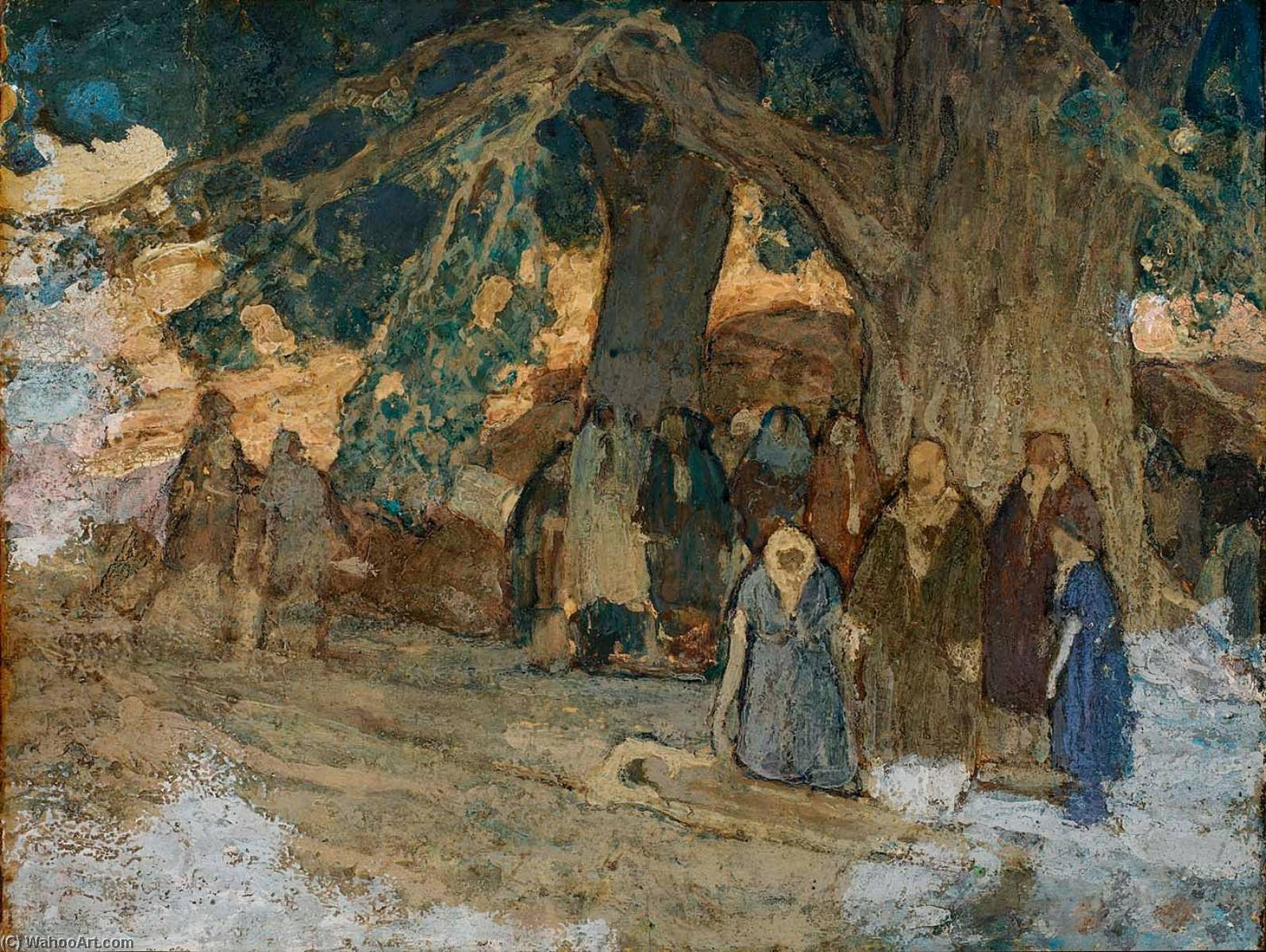 He Healed the Sick, 1930 by Henry Ossawa Tanner (1859-1937, United States) | Oil Painting | WahooArt.com