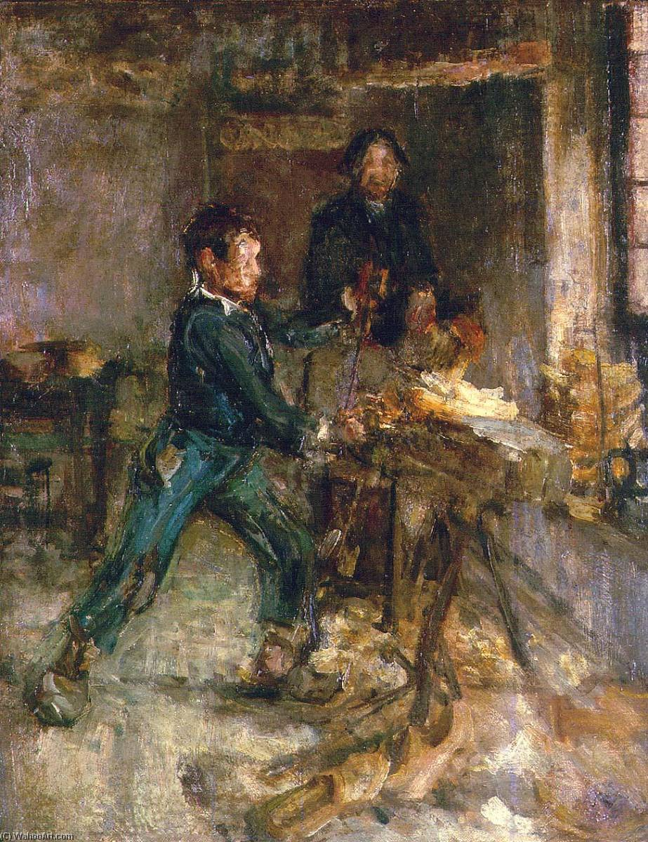 Study for the Young Sabot Maker, 1895 by Henry Ossawa Tanner (1859-1937, United States) | Museum Quality Reproductions | WahooArt.com