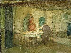 Order Paintings Reproductions | And He Disappeared out of Their Sight, 1898 by Henry Ossawa Tanner (1859-1937, United States) | WahooArt.com