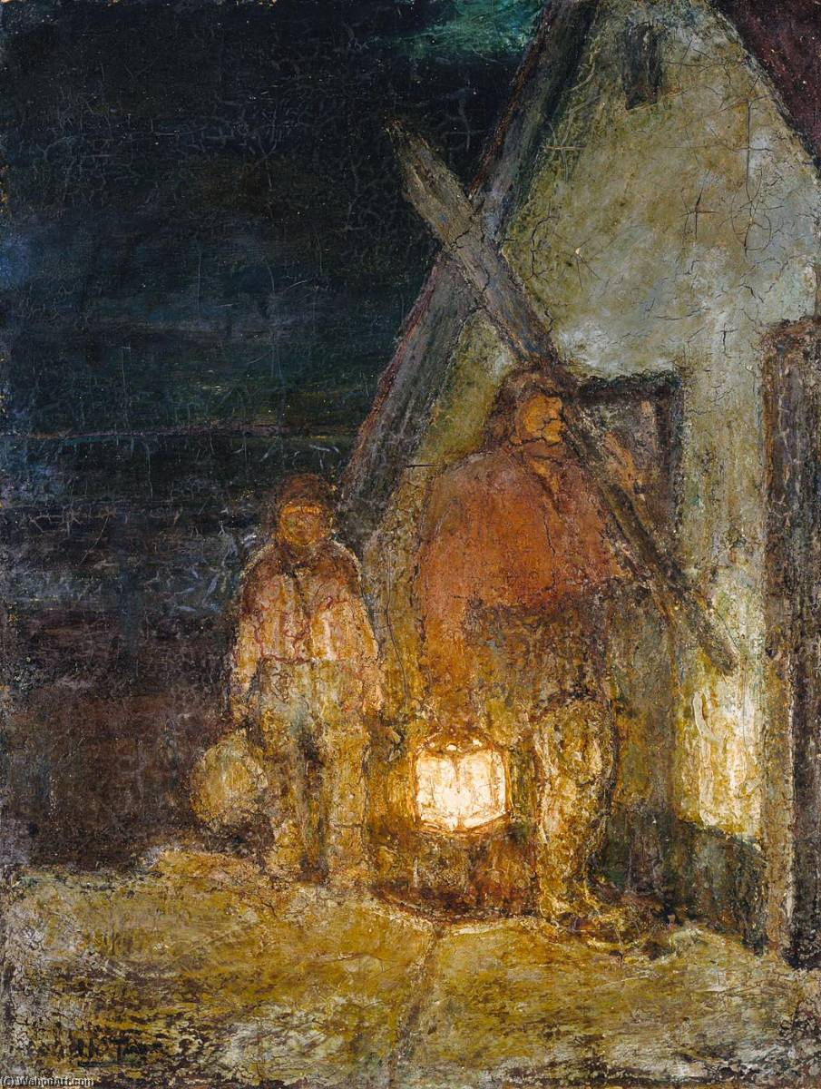 The Fisherman`s Return by Henry Ossawa Tanner (1859-1937, United States) | Oil Painting | WahooArt.com