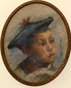 Katherine Beatrice Mcnaughton Mowry - Study Choir Boy, (painting)