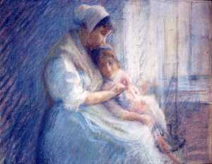 Katherine Beatrice Mcnaughton Mowry - Mother and Child, (painting)