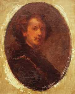 Anna Huntington Stanley - Rembrandt Self Portrait, (painting)