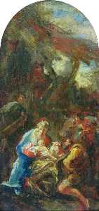 Giovanni Battista Pittoni The Younger - Adoration of the Shepherds