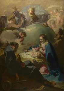 Giovanni Battista Pittoni The Younger - The Nativity with God the Father and the Holy Ghost