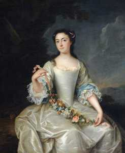 Isaac Whood - Mary Harpur (d.1752), Lady Holte ( )