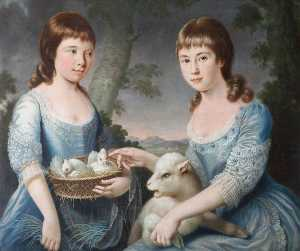 George Paul Chalmers - Elizabeth Chichester (1768–1825), and Mary Chichester (1771–1820), as Children, Aged 9 and 5