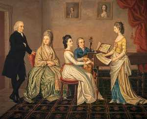 David Allan - James Erskine (1722–1796), Lord Alva, and his Family