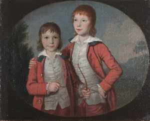 David Allan - Portrait of Two Boys (perhaps the two elder sons of John Francis Erskine, later 7th Earl of Mar)