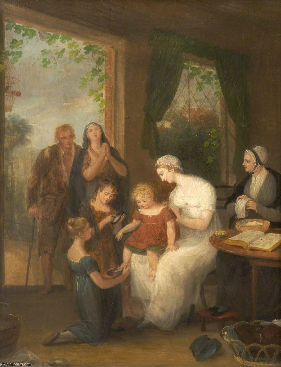 Charity, 1828 by William Redmore Bigg | Museum Quality Reproductions | WahooArt.com