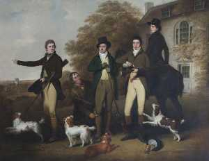 William Redmore Bigg - A Shooting Party of Captain William Lukin (1768–1833), and His Brothers at Felbrigg Parsonage