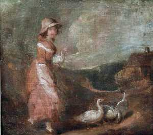 William Redmore Bigg - Driving the Geese