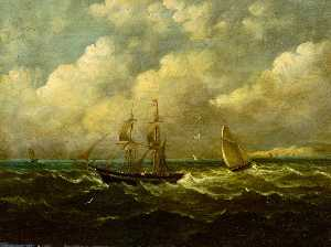 John Moore Of Ipswich - Sailing Boats at Sea