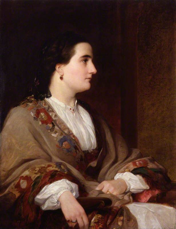 Lucie, Lady Duff Gordon, 1851 by Henry Wyndham Phillips | Museum Quality Reproductions | WahooArt.com