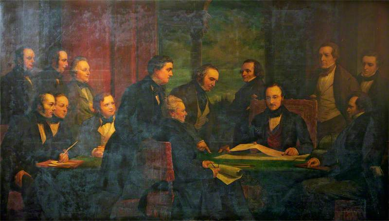 The Royal Commissioners for the Exhibition of 1851, 1850 by Henry Wyndham Phillips | Painting Copy | WahooArt.com