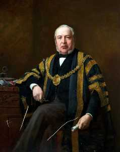 Barnett Samuel Marks - Alderman Daniel Lewis, JP, Mayor of Cardiff (1890–1891)