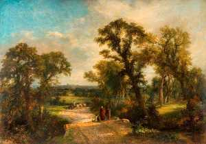 Frederick Henry Henshaw - Windsor Castle from the Great Park (Morning)