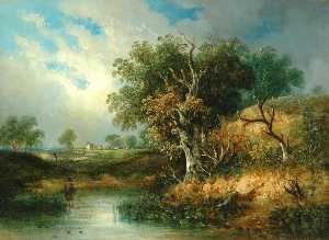 Samuel David Colkett - Landscape with River